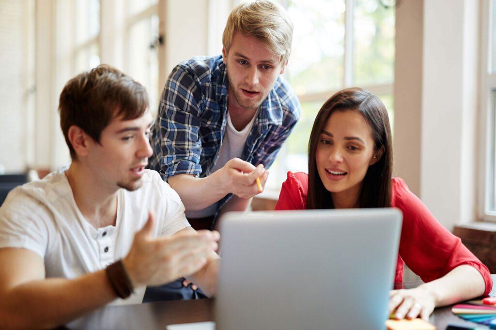 elevadoIQ Team discussing Website Design Requirements